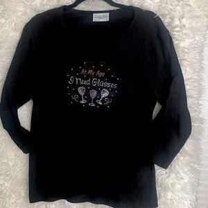Cactus Bay - Black Long Sleeve Tee - Sz XL